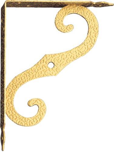 Γωνία ραφιού μεταλλική χρυσή