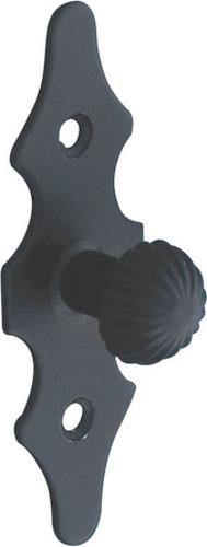 Πομολάκι με πλάκα για ντουλάπια - συρτάρια εποξικής βαφής μαύρο